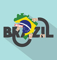Brasilia The Capital City Of Brazil Typography vector image vector image