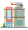 Building of hospital vector image