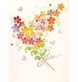 bunch beautiful flowers vector image