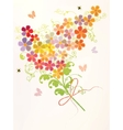 bunch of beautiful flowers vector image