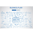Business Planning concept with Doodle design style vector image vector image