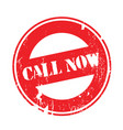 call now rubber stamp vector image