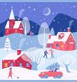 christmas winter activities vector image