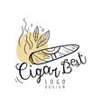 cigar best logo design emblem can be used for vector image vector image