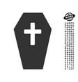 coffin icon with men bonus vector image