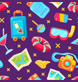 colorful summer holiday seamless pattern vector image vector image
