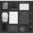 Corporate identity mockup template vector image vector image