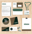 corporate identity template design vector image