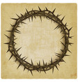 crown of thorns vintage background vector image vector image