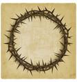 crown thorns vintage background vector image