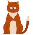 cute cartoon kitty with ginger colored fur vector image vector image