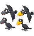 Cute cartoon raven vector image