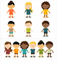 Cute smiling multicultural children vector image vector image