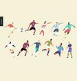 european football soccer players set vector image vector image
