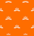 fence village pattern orange vector image vector image