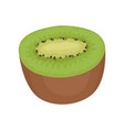 flat icon of half sweet kiwi tasty summer vector image