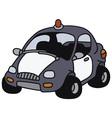 Funny police car vector image vector image