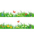 Grass and flowers set vector image vector image