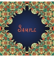 Green ornate frame with paisley pattern vector image vector image