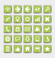green square icons social media and internet vector image