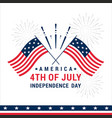 greeting fourth july vector image vector image