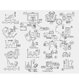 Hand draw doodle elements Business finance chart vector image vector image