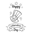 hand draw of independence day card style vector image