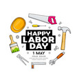 happy labor day craftsman tool design vector image vector image
