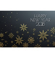 happy new year 2018 background with snowflake vector image vector image