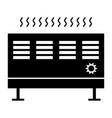heat con the black color icon vector image vector image