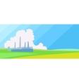 Horisontal Factory landscape vector image