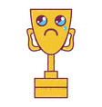 kawaii cute crying prize cup vector image vector image
