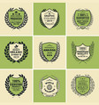 laurel wreath badges templates vector image vector image