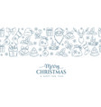 merry christmas holidays seamless border vector image