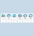 mobile app onboarding screens hoband leisure vector image vector image