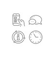 mobile survey line icon select answer sign vector image vector image