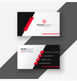 modern red business card template vector image vector image