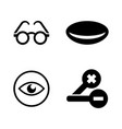 optometry simple related icons vector image vector image