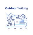 outdoor trekking concept nature hiking vector image