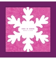 pink abstract flowers texture Christmas snowflake vector image