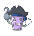 pirate berry smoothie character cartoon vector image vector image