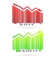 profit and loss graph vector image