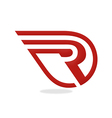 r logo initial business vector image
