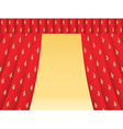 red theatre curtain vector image vector image