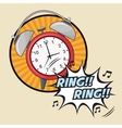 ring explosion pop art comic design vector image