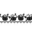 seamless border pattern with pumpkin ornament vector image vector image