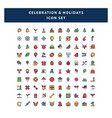 set celebration and holidays icon with filled vector image vector image
