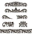 set decorative vintage elements vector image