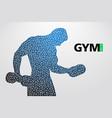 silhouette of a bodybuilder gym logo vector image vector image