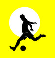 soccer and football player man vector image vector image